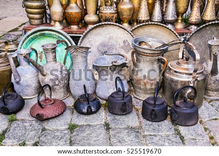 Old Oriental Antiques Barass Jungs Vases Stock Photo Edit Now