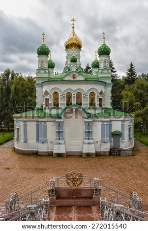 Old  Orthodox Church in Poltava in place the Battle of Poltava. Ukraine - stock photo
