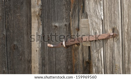 Old outhouse on the farm. Museum of the Mountain West in Montrose, Colorado. - stock photo