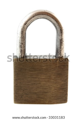 old padlock isolated (with clipping path)