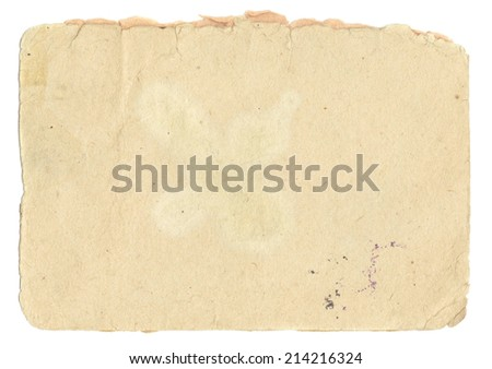 Old page grunge paper for texture or background - stock photo