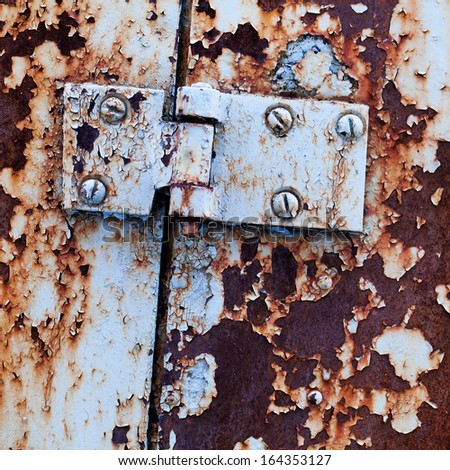 old paint on a rusty metal, rusty metal for background