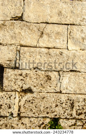 Old painted brick wall. Abstract background.