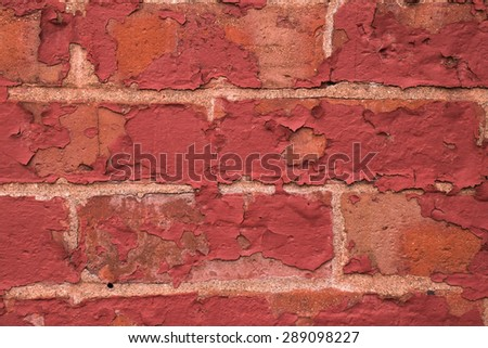 Old Painted Brick Wall (taken by an old building in Saint John New Brunswick on one of the city streets)