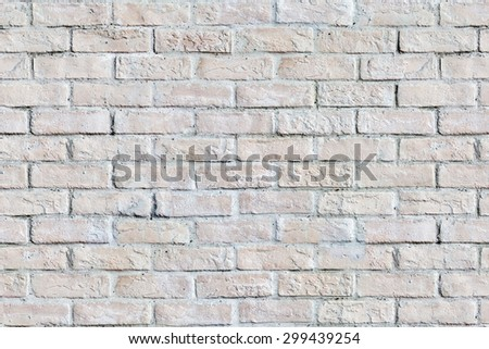 Old painted brick wall texture, seamless - stock photo