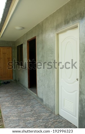 Old painted white door ,home