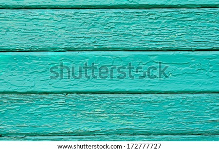 Old painted wood panels used as background