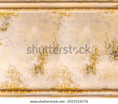 Old Painting Wall Wood Border Frame Stock Photo (Royalty Free ...