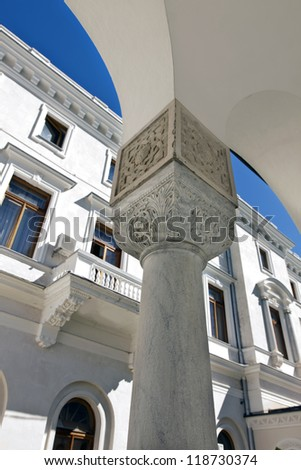 old palace of the column in the Greek style - stock photo