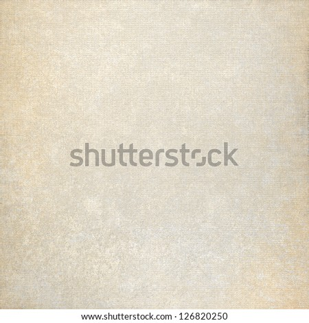 old paper background and beige fabric canvas texture with subtle stains - stock photo