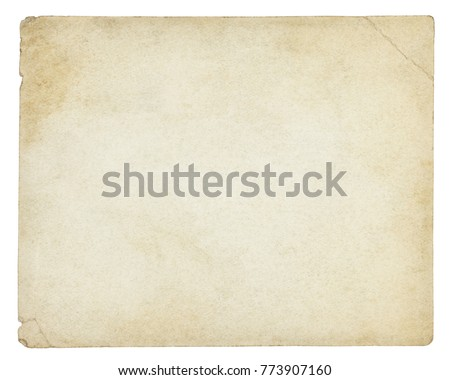 Old paper background isolated - (clipping path included)