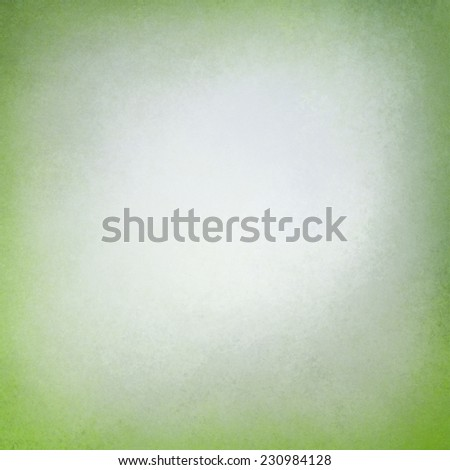 old paper background with distressed bright green border edges, elegant worn vintage texture and faded off white center, green vignette frame, soft white inside color - stock photo
