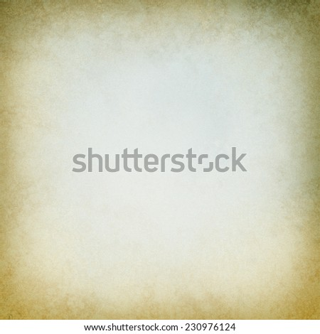 old paper background with distressed brown border edges, crumple worn vintage texture and faded off white center, blank yellowed ancient document - stock photo