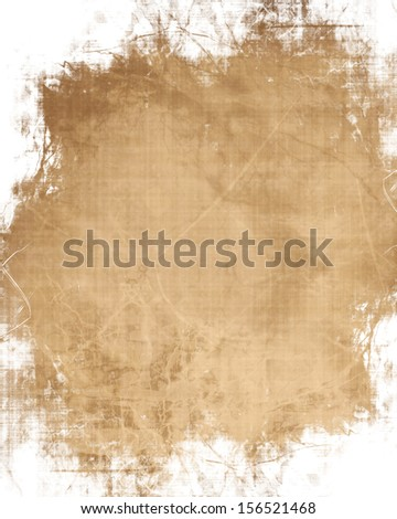 old paper background with some stains and spots on it - stock photo