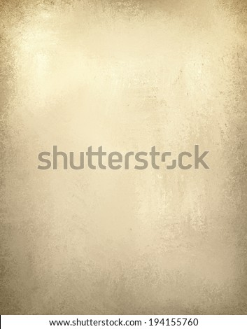 old paper brown background, vintage worn distressed border and white center background, beige or light brown wall paint, old paper texture - stock photo