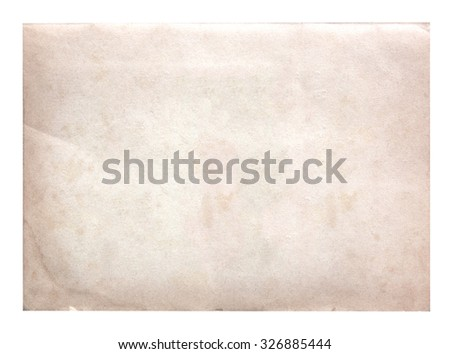 Old paper brown isolated on white background. - stock photo