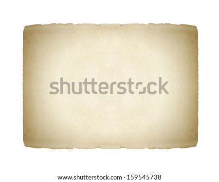 old paper cards isolated on white - stock photo
