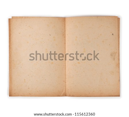 Old paper folded, Paper used is actually over 60 years old. - stock photo