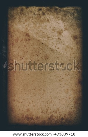 old paper isolated on a old bronze background