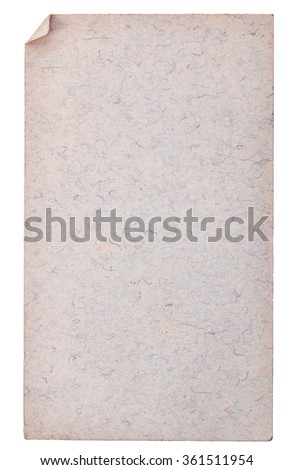 Old paper isolated on a white background - stock photo