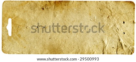 Old paper label - stock photo