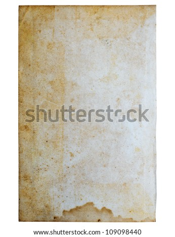 Old paper on white background. - stock photo