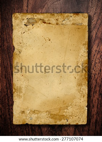 old paper on wooden board ,use for background