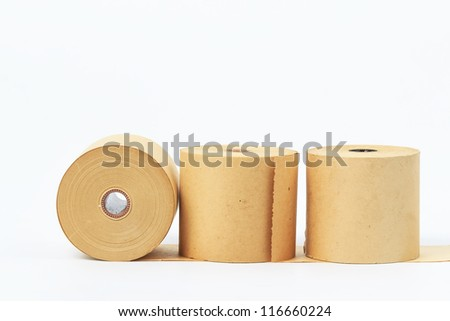 Old paper roll. - stock photo