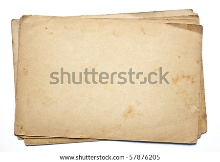 Old paper. Series - stock photo