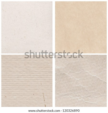 Old paper set - stock photo