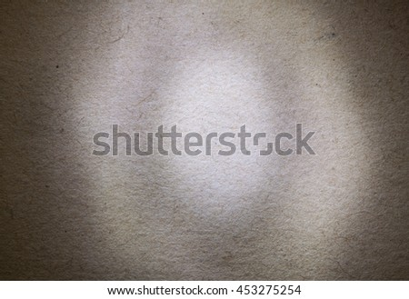 Old Paper Texture, Dark Grunge Background, Elliptical Center Spot Light