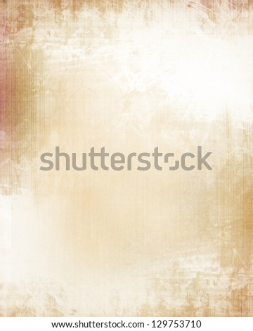 Old paper texture with some stains on it - stock photo