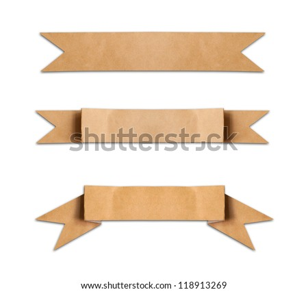 Old Paper Use Label Banner On Stock Photo 118913269 - Shutterstock