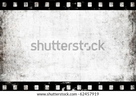 Old paper with film strip - stock photo