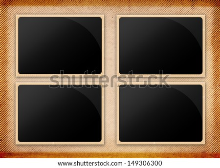 old paper with frame - stock photo