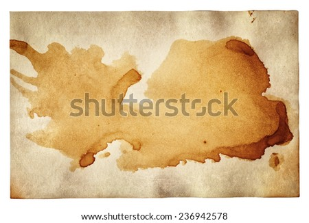 Old paper with scratches and stains texture  - stock photo