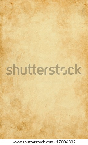 Old paper with textures and stains. - stock photo