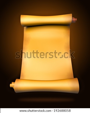 Old parchment paper scroll - 3d illustration