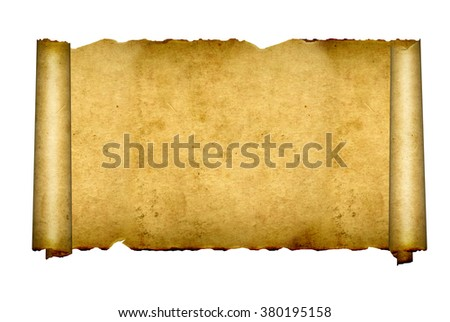 Old parchments. Isolated on white background - stock photo
