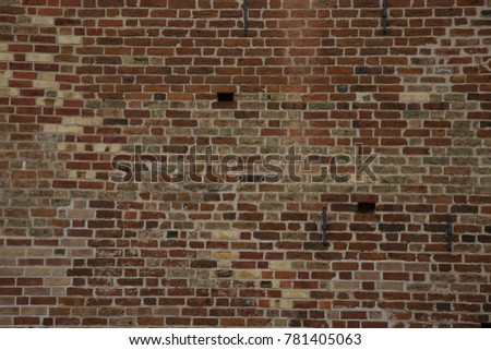 Old patched Brick Wall