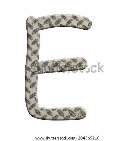 Old pattern style of steel alphabet E