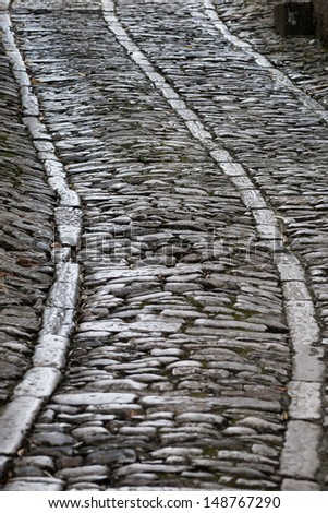 Old pavement of Erice