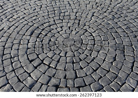 old paving stone walkway abstract background