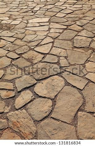 Old Paving Stones - stock photo