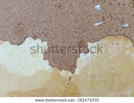 Old peeling paint and dirty on old brown concrete wall background - stock photo