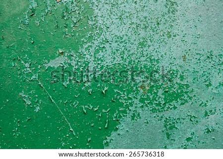 Old Peeling Paint on Metal Grunge Background  - stock photo