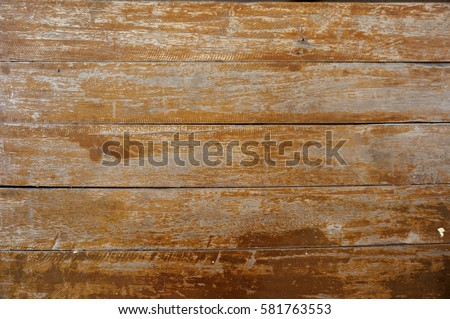 Old peeling paint on wood texture and background