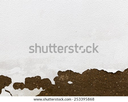 Old Peeling Painted Wall. Background texture for all of your project - stock photo