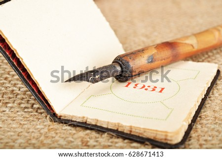 Old pens old diary stock photo image royalty free 628671413 old pens and old diary thecheapjerseys Image collections