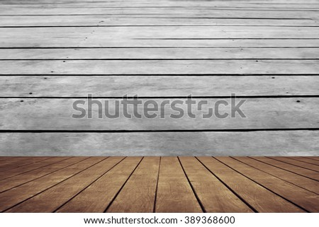 old perspective wooden floor with wooden floor background